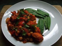 Paprika Roasted Vegetables with Chickpeas and Sunflower Seeds.