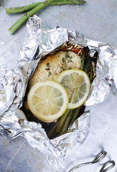 Chicken & Asparagus Tin Foil Dinner @themerrythought