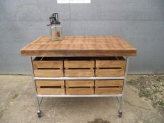 stunning upcycled industrial rustic butchers by industrial kitchen
