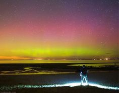 """""""This is the first time since September 2005 that the lights have been visible from here, (Cape Code, MA)"""" says Cook. """" It was a beautiful display. During the peak, which lasted about 20 minutes, I could see red and pink pillars with my unaided eye."""""""