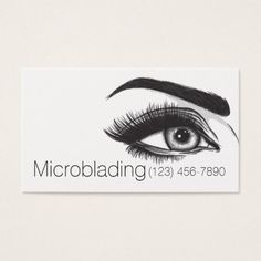 Microblading  Eyebrows Tattoo Permanent Makeup Business Card - artists unique special customize presents