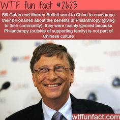Bill Gates and Warren Buffett philanthropy - WTF fun facts