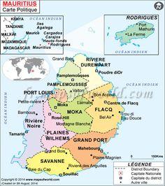 Map of #Mauritius (#mapsinfrench)