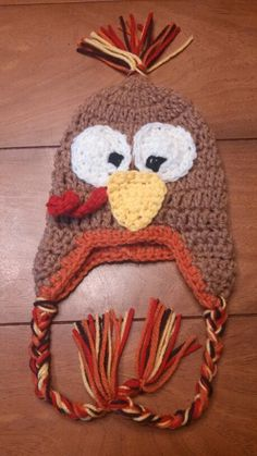 Thanksgiving Turkey Crochet Hat Ebay VintageRedCollection
