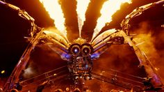 Arcadia really nailed it with this mechanical spider that was made for Glastonbury 2014