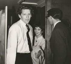 Jerry Lee Lewis backstage in Sheffield City Hall with Myra Gale Brown