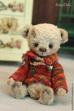 Мишки Тедди ручной работы. Марик. YanaDolls. Интернет-магазин Ярмарка Мастеров. Мишка, мишка в подарок, шплинты, авторская игрушка