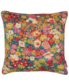 Liberty Art Fabrics Flowers of Thorpe Cotton Linen Twill Cushion In Summer Bloom Liberty Art Fabrics, Liberty Print, Carpet Fitting, Heart Cushion, Printed Cushions, Chelsea Flower Show, Surface Pattern Design, Colorful Decor, Textures Patterns