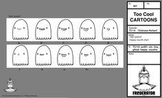 """Cartoon Hangover has announced the summer premiere dates for a couple of Frederator shorts, including July 17 for """"Chainsaw Richard."""" This calls for a Tiny Ghost happy mouthchart. Watch Cartoons, Chainsaw, July 17, Feelings, Dates, Couple, Shorts, Happy, Summer"""