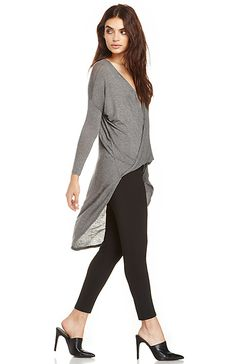Twisted Sister Blouse in Gray