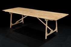 Folding 'Campaign' Refectory Table by Rose Uniacke | Rose Uniacke