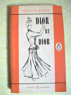 Christian Dior biography, Dior by Dior - Penguin paperback 1958.