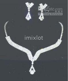 Wholesale BEAUTIFUL Wedding Jewelry Sets Bridal Wedding Jewelry Wedding Jewlery Simulated Diamond, Free shipping, $11.53-16.8/Piece | DHgate