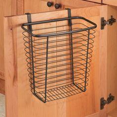 InterDesign Axis Over-the-Cabinet Steel Wastebasket Bronze Garbage Storage, Plastic Storage, Storage Containers, Storage Baskets, Storage Organization, Rv Storage, Organizing Tips, Kitchen Organization, Kitchen Storage