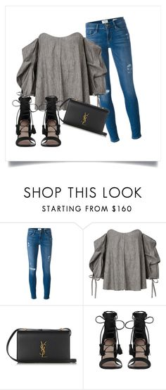 """""""inspo"""" by josieswall on Polyvore featuring Frame Denim, Yves Saint Laurent and Zimmermann"""