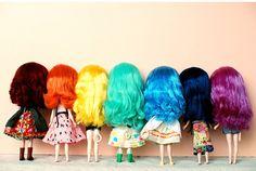 blythe rainbow by toyholic365, via Flickr