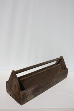 Cheap Sale Vintage Antiqued Wooden Box Crate Trug Alice Box Attractive Appearance