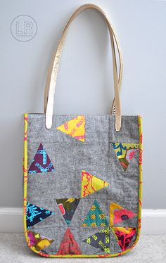 School Tote from the book Quilt Lab | Lrstitched.com