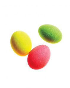 Glittered Neon Easter Eggs. We have the Martha Stewart Craft Glitter Set in neon!     http://ow.ly/9C16e