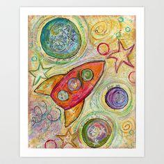 blast off Art Print by serena wilson stubson - $17.00