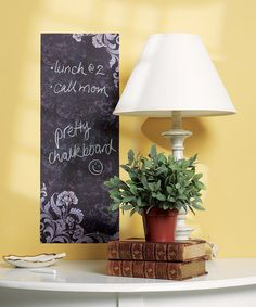 Take a look at this Frilly Chalkboard Wall Decal by WALLIES on #zulily today! $6.99, usually 10.00