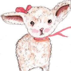 Nursery Decor Little Miss Lamb  Nursery by RoseHillDesignStudio, $18.00