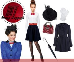 """""""Mary Poppins DIy Costume"""" by contrary-to-ordinary ❤ liked on Polyvore"""