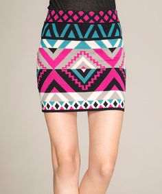 This Teal & Pink Sweater Skirt is perfect! #zulilyfinds