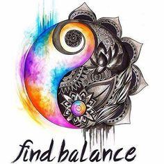 find balance, yin yang, tie dye