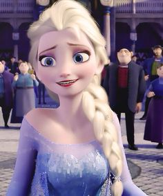 Elsa looks so happy-frozen