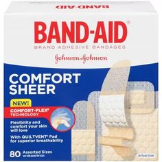 $2.97 Band-Aid Brand Sheer Strips Adhesive Bandages, Assorted Sizes, 80 Count