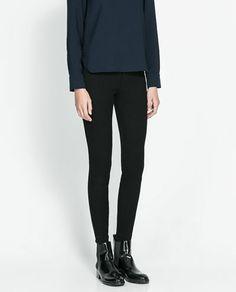 ZARA - WOMAN - LEGGING STYLE TROUSERS. I like leggings with polyamide.