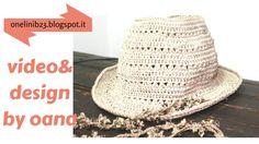 Crochet Fedora summer hat, My Crafts and DIY Projects Crochet Christmas Hats, Crochet Summer Hats, Crochet Baby Hats, Crochet Slippers, Crochet Clothes, Free Crochet, Crochet Cowboy Hats, Crochet Beanie Hat, Sombrero A Crochet