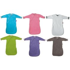 Comodissimo sacco nanna a maniche lunghe ideale per i mesi invernali. Disponibile in 6 colori e 3 misure (60, 80 e 100 cm)