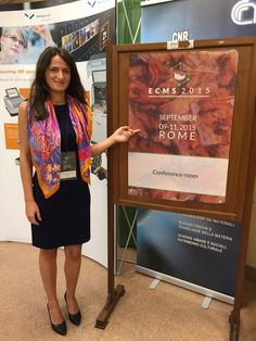 Rosa Danisi speaking at the European Conference of Mineralogy and Spectroscopy in Rome