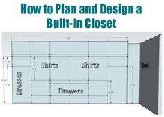 How to plan and design a walk in closet - Sawdust Girl® Closet Storage, Bedroom Storage, Closet Organization, Build A Closet, Walk In Closet, Front Closet, Master Bedroom Closet, Home Bedroom, Bedrooms