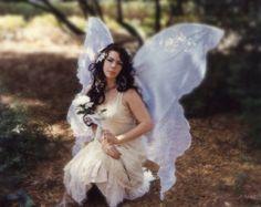 Enorme Moonbeam White OPAL FAIRY vleugels kostuum volwassen xl aankleden godin wicca engel zigeuner piraat steampunk sexy Toothfairy geliefde Gift minnaar