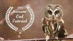 Beaded Macrame Owl Tutorial #Macrame #Owl #Necklace #Beadwork #Tutorial