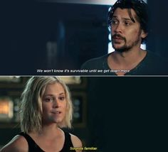 Bellamy and Clarke speaking about the new earth 🌎 The 100 Cast, It Cast, Movies Showing, Movies And Tv Shows, Bob Morley, Clexa, Bellarke, New Earth, Secret Love