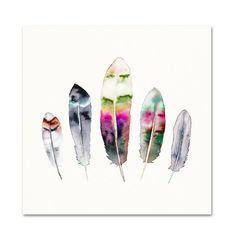 Feather Watercolor Print.