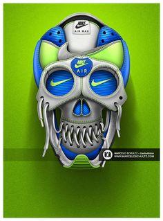 Les travaux de typographie pour Nike de Marcelo Schultz