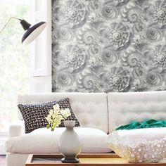 Opulent Shell Wallpaper. York Carey Lind Coastal Calm. http://lelandswallpaper.com