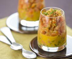 Moutarde Savora Amora, saumon, oignon nouveau, citron vert, orange, Huile d'olive, Sel, Poivre, Moutarde Savora Amora, farine, beurre...