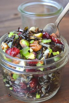 Wild Rice Salad with Cranberries and Nuts(Wild Rice Recipes) Best Thanksgiving Side Dishes, Healthy Thanksgiving Recipes, Vegan Thanksgiving, Wild Rice Recipes, Wild Rice Salad, Side Recipes, Vegetable Recipes, Vegetarian Recipes, Appetizer Recipes