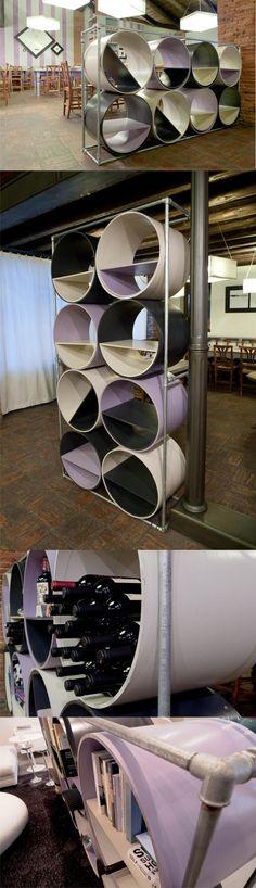 Libra mueble tubos celulosa muy ingenioso 2