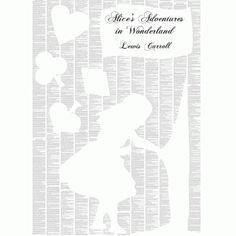 'Alice's Adventures in Wonderland' Text Poster