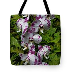 "Orchids Tote Bag 18"" x 18"""