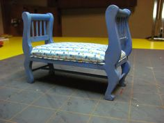 Dollhouse Miniature Furniture - Tutorials | 1 inch minis: 1 Inch Scale Dollhouse Bench Tutorial