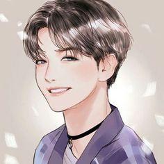 Exo, baekhyun, and fanart image Baekhyun Fanart, Chanbaek Fanart, Kpop Fanart, Baekyeol, Kyungsoo, Chanyeol, Exo Anime, Anime Guys, Anime Art