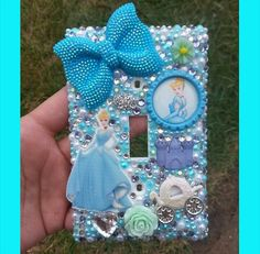 Cinderella bling light switch cover! Search for Paiges Infinite Bling on facebook, instagram, and etsy!